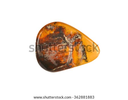 polished brown amber - stock photo