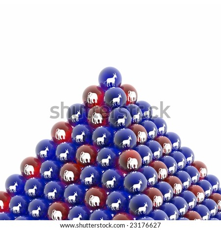 politic pyramid - stock photo