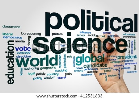 Political science word cloud concept - stock photo