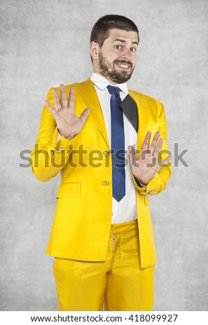 politician says that he did not take any bribes - stock photo