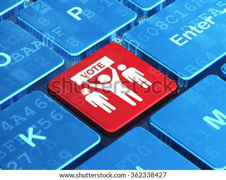 Politics concept: Election Campaign on computer keyboard background - stock photo