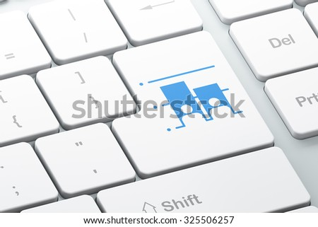 Politics concept: Enter button with Election on computer keyboard background, 3d render - stock photo