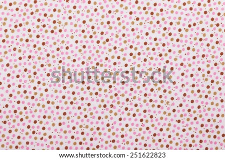 Polka dot fabric background. Abstract colorful polka dot fabric background. - stock photo