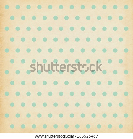 Polka dot vintage background illustration - stock photo