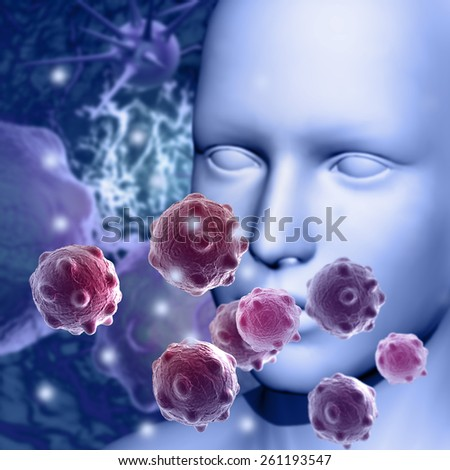 Pollen allergy concept made in 3d software - stock photo
