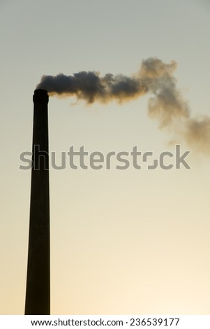 Pollution chimney - stock photo