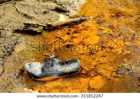 Pollution - ecological disaster - stock photo