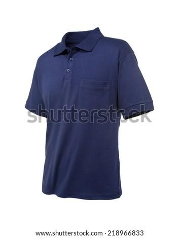 Polo Shirt Blue - stock photo