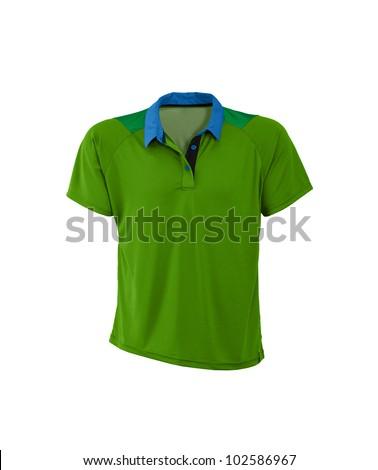 Polo shirt. On a white background. - stock photo