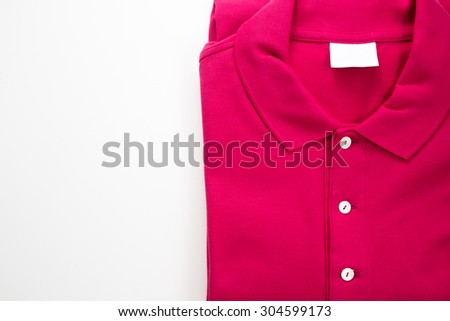 Polo shirt on white isolated background - stock photo