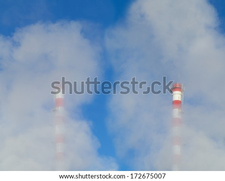 Polution - stock photo