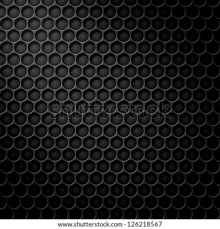 polygon texture pattern, black carbon background - stock photo