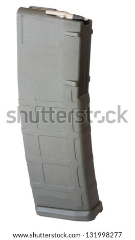 Polymer assault rifle magazine that holds thirty rounds - stock photo