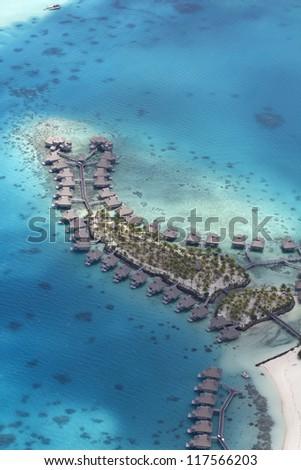 polynesia aerial view - stock photo