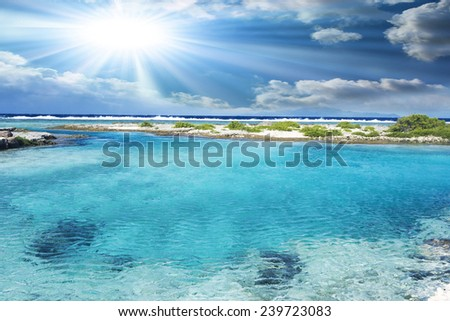Polynesian sea. - stock photo