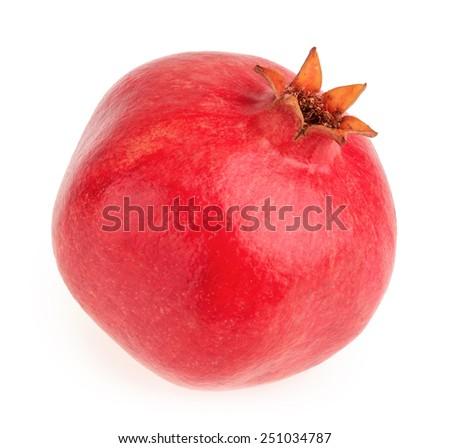 Pomegranate fruit isolated - stock photo