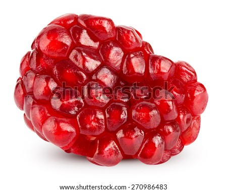 pomegranate isolated on white background Clipping Path  - stock photo