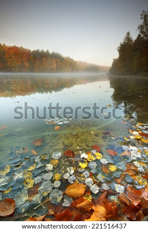 Pomerania, Poland/ Autumn Lake - stock photo