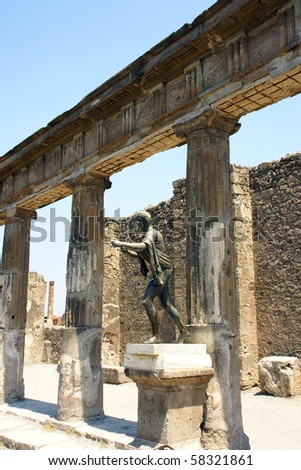 Pompeii - Apollo sanctuary - stock photo