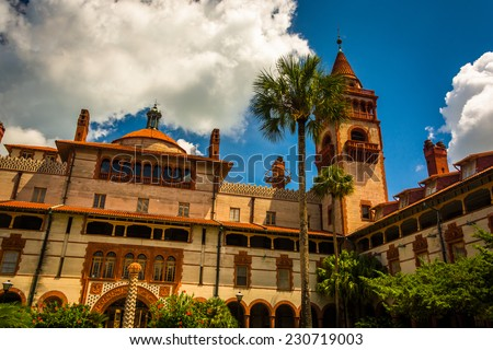Ponce de Leon Hall, at Flagler College in St. Augustine, Florida. - stock photo