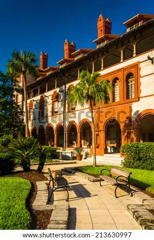Ponce de Leon Hall at Flagler College, St. Augustine, Florida. - stock photo