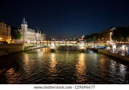 Pont au Change over the Seine River in Paris, France - stock photo