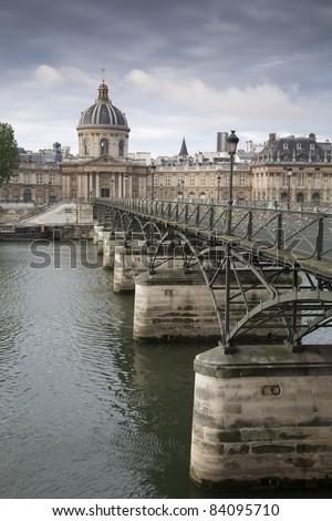 Pont des Arts Bridge over River Seine, Paris, France - stock photo