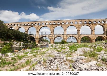 Pont du Gard - stock photo