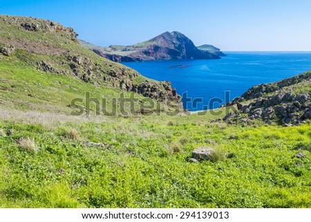 Ponta de Sao Lourenco, the easternmost part of Madeira Island (Portugal) - stock photo