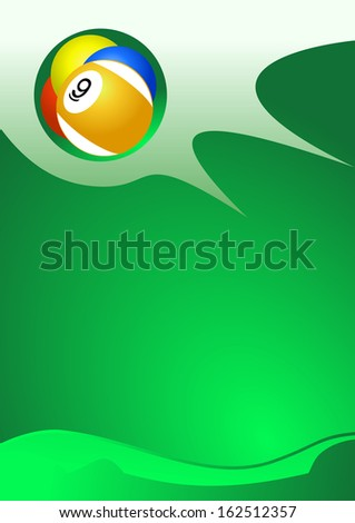 Pool balls abstract background - stock photo