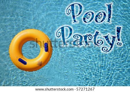 Pool Party invitation Concept - stock photo