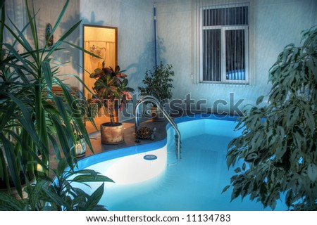 Pool room interior - stock photo