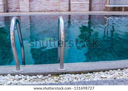 Pool Staircase - stock photo