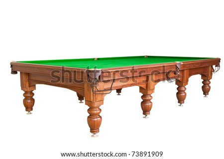 pool table isolated from whites. billiard table - stock photo