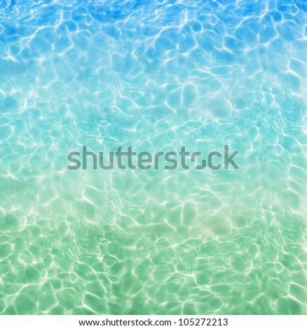Pool water - stock photo
