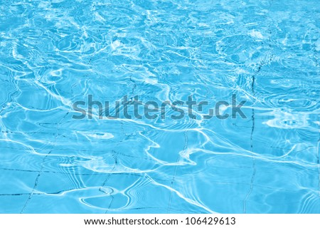 Pool water abstract background, cold fresh natural backdrop, rippled texture and pattern, blue swimming pool seamless surface, summer travel vacation and leisure concept - stock photo