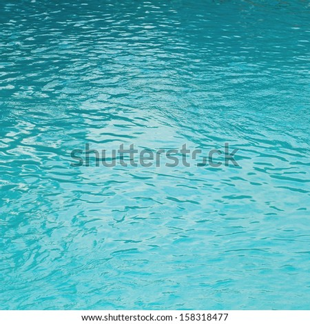 Pool water surface - stock photo