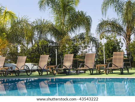 poolside - stock photo