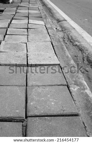 poor construction path way and road  image - stock photo