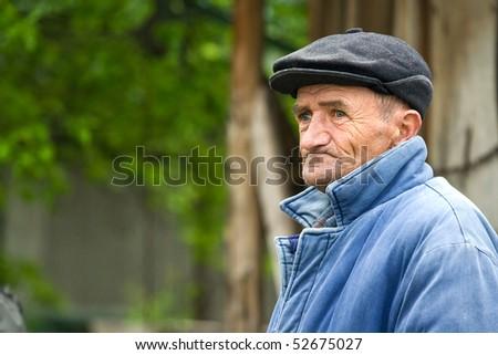 poor old man - stock photo
