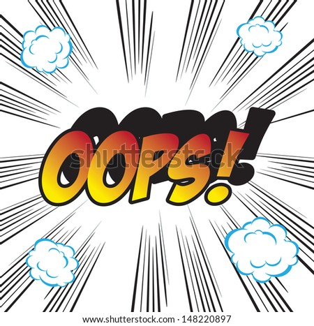 pop art background office stamp with the word OOPS  - stock photo