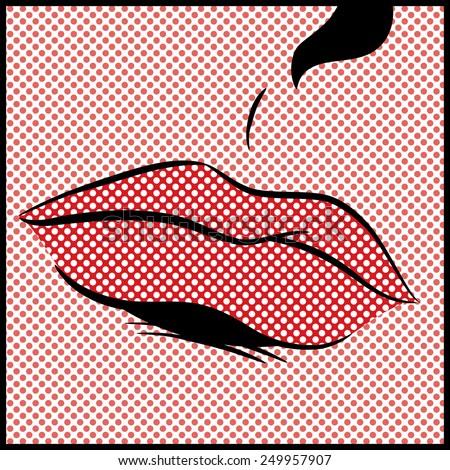 Pop Art Lips - stock photo