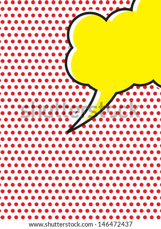 Pop Art Speech Bubble - stock photo