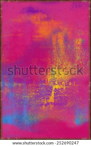 Pop Art Texture with Rusty Seams Along Edges (Part of Vibrant Metal Textures set, which includes 12 textures that fit together perfectly to form a huge image. No noise, even lighting) - stock photo