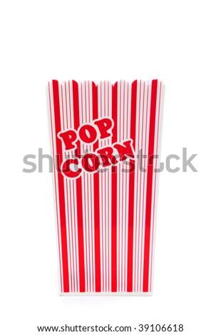 pop corn box isolated against white background - stock photo
