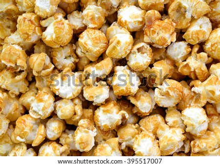 Pop corn close up - stock photo