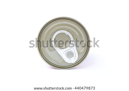 pop-top lid, Manufacturer of metal cans, easy open lid bucket for beverage food packing and packing bucket for chemicals  - stock photo