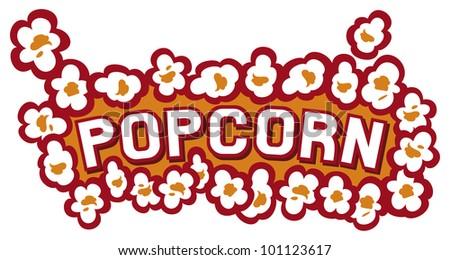 popcorn design - stock photo