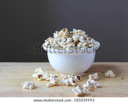 popcorn portrait - stock photo