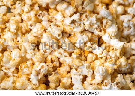 Popcorn, Snacks a background - stock photo